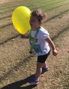 Amelia running Park2Park